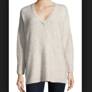 French Connection Fleece V-Neck Sweater